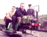 Ken driving Bridget about 1960 Grangetown.jpg